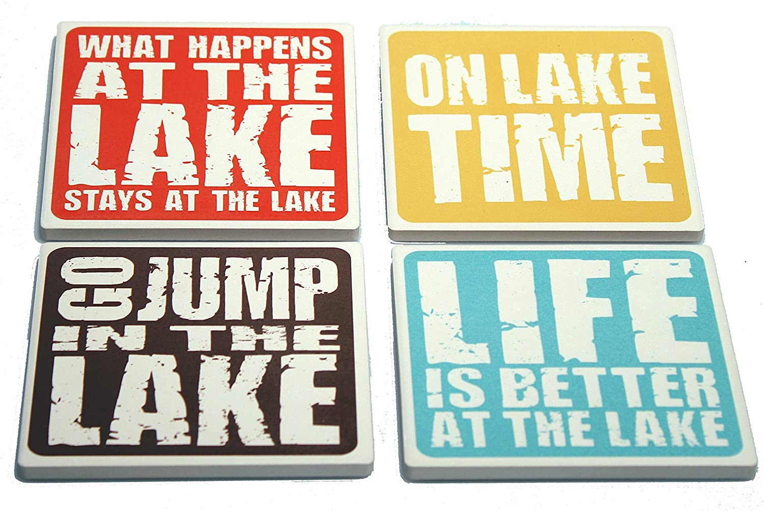 Lake Sayings Coasters Manufacturer direct delivery Spring new work - Lakehouse Gift