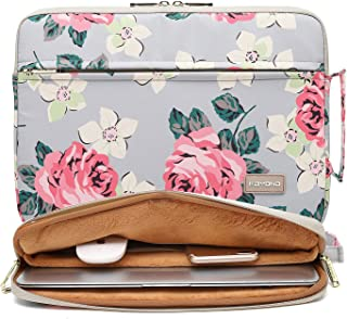 KAYOND Nylon Fabric Inch Laptop Sleeve Case Notebook Bag for MacBook Pro 15 4-inch Retina 15-15 6 inch laptop  15-15 6 INCH  Grey Rose