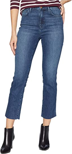 Modern High-Rise Crop Jeans in District Blue