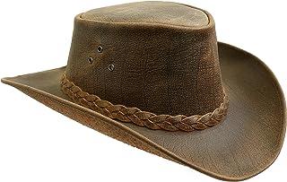 Sombrero de piel de ante con cinta trenzada Kakadu Outdoor Queenslander