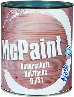 McPaint Wetterschutzfarbe – Holzfarbe für außen auf Acryl Basis mit langanhaltendem Wetterschutz, PU-verstärkt, Möbellack, seidenmatt, 0,750L, Taubenblau, RAL 5014 - Weitere Farbtöne verfügbar