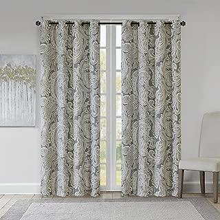 grey paisley curtains