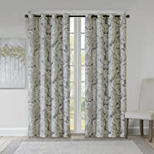 Grey Curtains For Living room , Casual Fabric Window Curtains For Bedroom , Ronan Paisley Grommet Window Curtains , 50X84