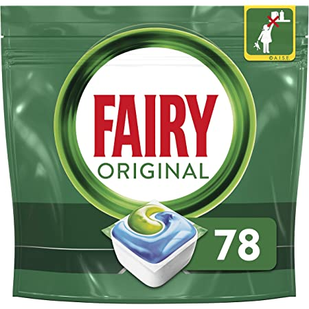 Fairy Original All-in-One Dishwasher Tablets Bulk, 78 Tablets