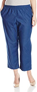 Alfred Dunner Women's Plus-Size Denim Proportioned Short Pant