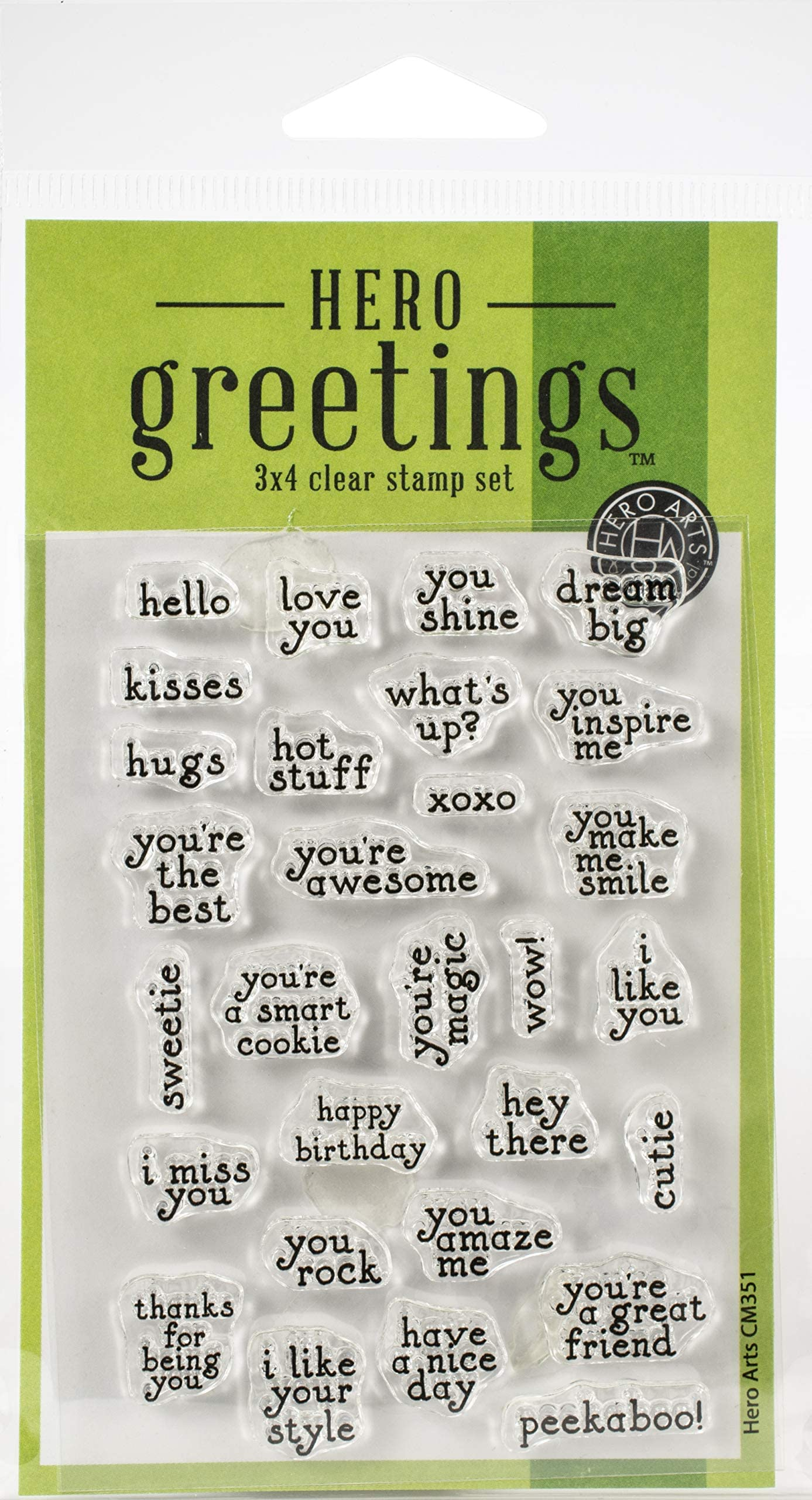 MAKE A WISH Greetings Phrases Sayings Messages Clear Stamp Set by Hero Arts