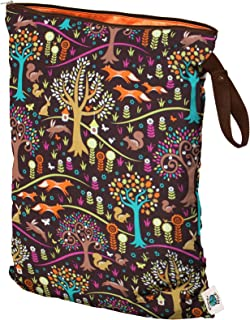 Planet Wise Wet Bag, Large, Jewel Woods (Made in the USA)