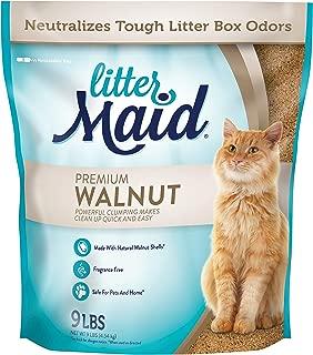 LitterMaid Natural Premium Walnut Clumping Litter, 9 lb (2 Pack)