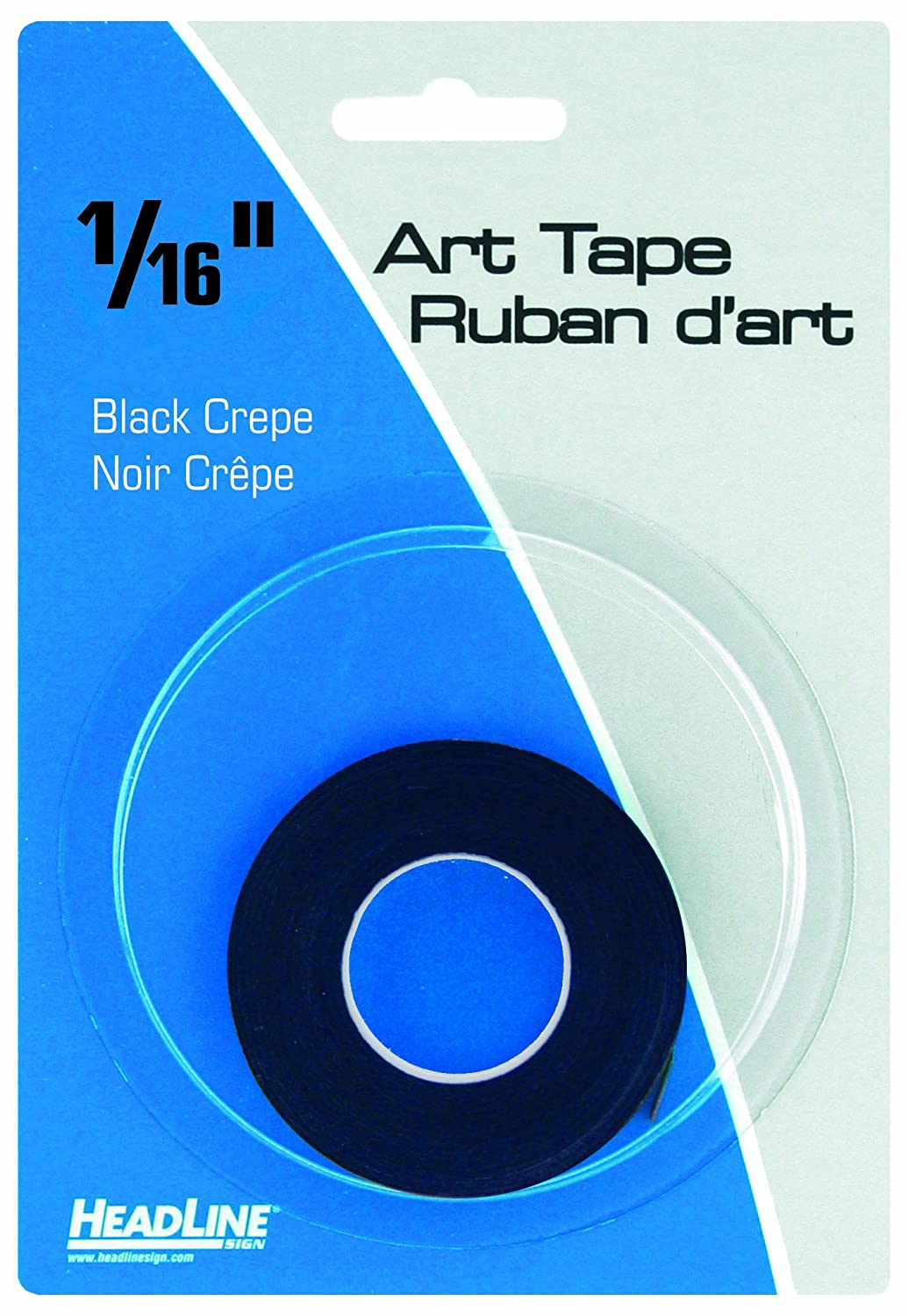 Headline Sign 73161 Graphic Art Tape, Black, 1/16-Inch Wide, 603 Inches Long