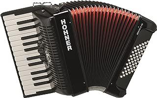 Hohner BR48B-N Bravo Piano Accordion, 26-Key/48 Bass, Black
