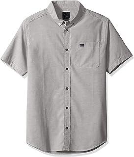 RVCA Men's Thatll Do Stretch Short Sleeve Woven Button Up Shirt