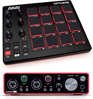 Scarlett 2i2 3rd Gen 2-in, 2-out USB Audio Interface with Akai MPD218