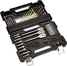 AmazonBasics - Juego de brocas y accesorios de destornillador y taladro, 100 piezas