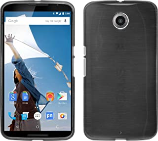 Funda de Silicona para Google Motorola Nexus 6 - Brushed Plata - Cover PhoneNatic Cubierta