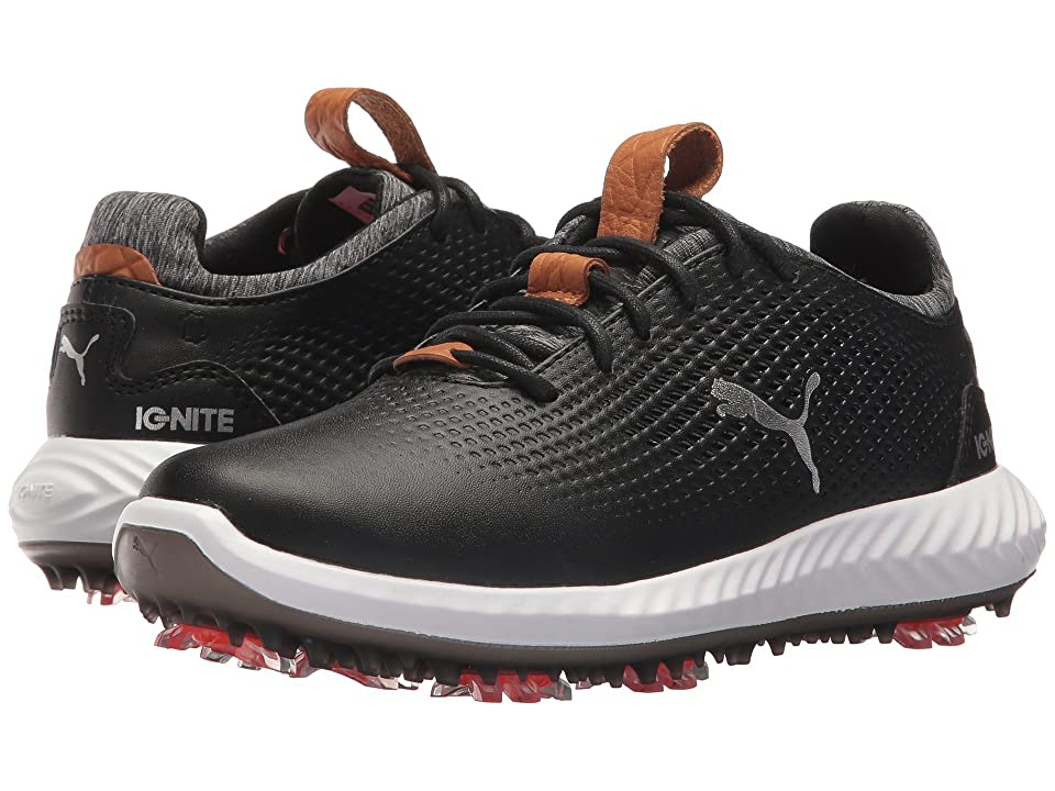 PUMA Golf Ignite Power Adapt Jr (Little Kid/Big Kid) (Puma Black/Puma Black) Men