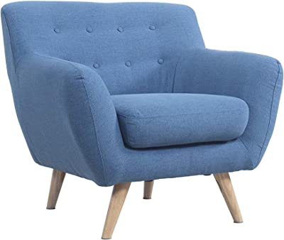 Lakdi-The Furniture Co. Fully Cushioned Beautifully Tufted One Seater    Love Seat (Blue)(