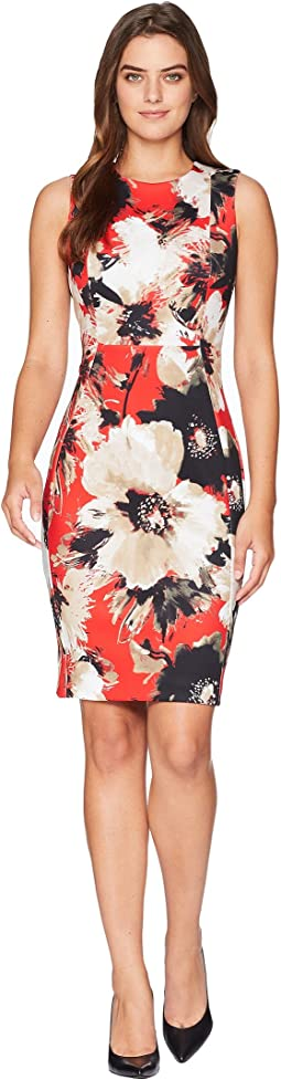 Floral Print Sheath Dress CD8MV5LM