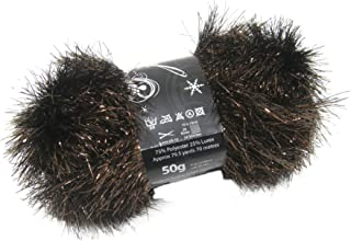 50g Ball of Tinsel Chunky Wool in Copper