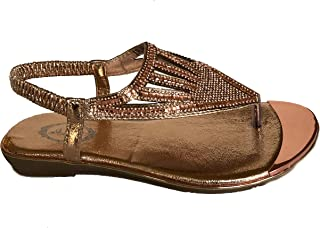 Womens Pink Silver Black Gold Rhinestone Bridal Toe Ring Flip Flop Thongs Sandals