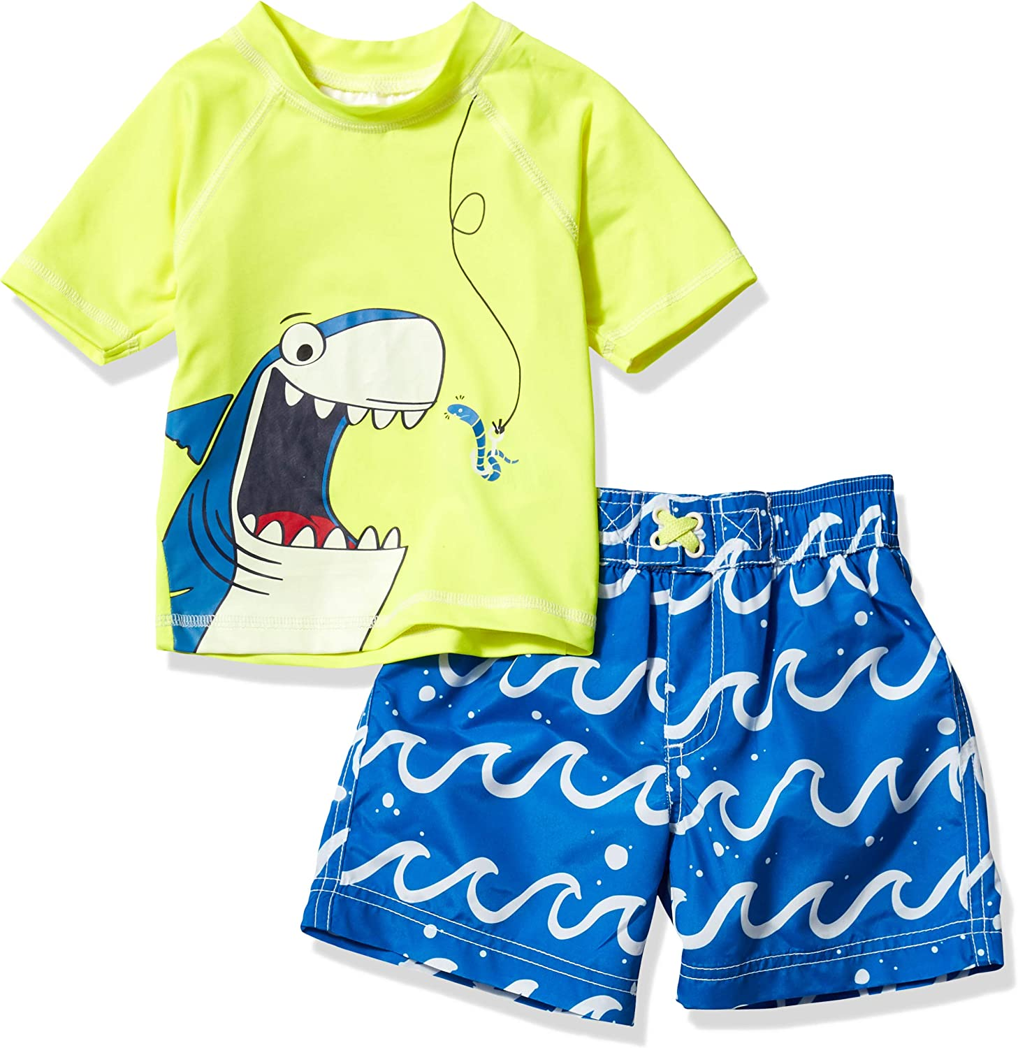 Wippette Boys Baby Two Piece Printed Rashguard Sets