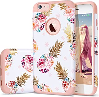 iPhone 6S Plus Case,iPhone 6 Plus Case Pineapple,Fingic Ultra Slim Floral Pineapple Design Case Hard PC Soft Rubber Anti-Scratch Protective Case Cover for iPhone 6 /6s Plus(5.5
