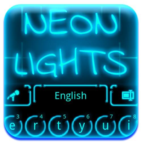 Neonlichter Tastatur