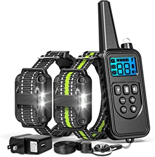 Best FunniPets Dog Training Collar, 2600ft Range Dog Shock Collar with Remote Waterproof Electronic Dog Collar for Medium and Large Dogs with 4 Training Modes Light Static Shock Vibration Beep Review