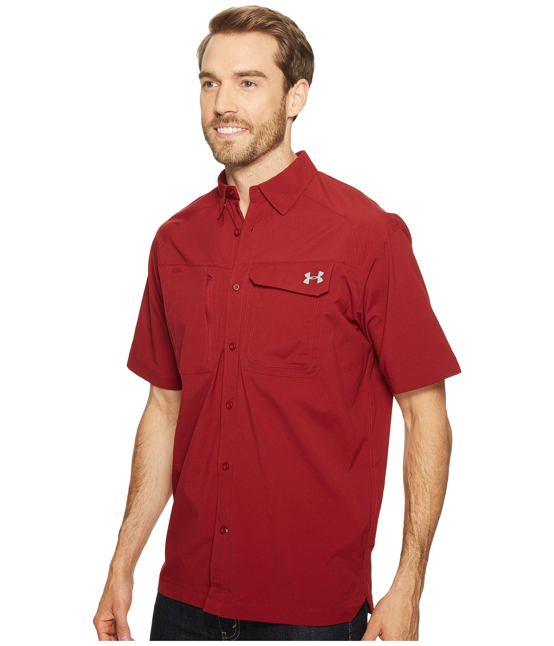 Under armour ua fish hunter short sleeve solid shirt in for Under armour men s ua fish hunter short sleeve shirt