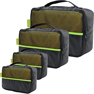 Luggage Cubes for Travel Packing Various Sizes Machine Washable Compression Organizer Bags with Mesh Top Panel Portable Li...