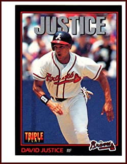 David Dave Justice ATLANTA BRAVES 1993 Donruss Triple Play #249