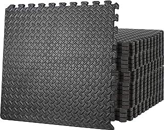Starkhausen 96 Square Feet Puzzle Exercise Mat, EVA Foam Interlocking Tiles, Protective Flooring for Home Gym, Kids/Baby P...