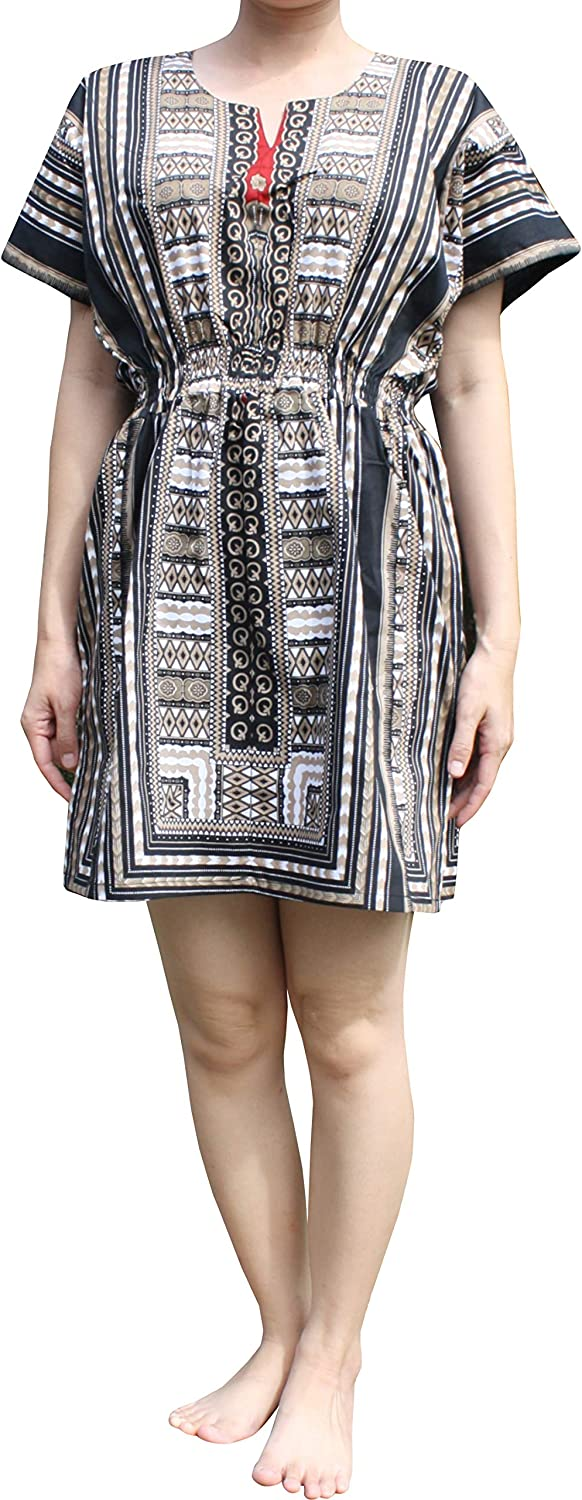 RaanPahMuang Cotton Child Dashiki Patch Dress with Elastic Pull in Waist