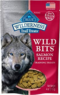 Blue Buffalo Wilderness Trail Treats Wild Bits Grain Free Soft-Moist Training Dog Treats, Salmon Recipe 4-oz bag