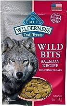 Blue Buffalo Wilderness Trail Treats Wild Bits Grain Free Soft-Moist Training Dog Treats, Salmon Recipe 4-oz bag