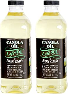 LifeOiL Non-GMO Canola Oil, 33.3 Fluid Ounce (Pack of 2)