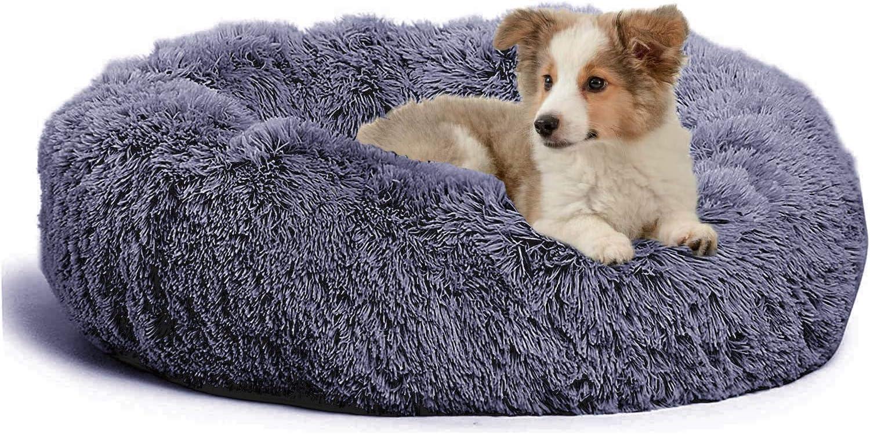 jincheng half Calming Dog Bed Cat Pet Donut Self-Wa Faux online shopping Fur
