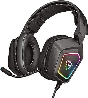 Trust Cascos Gaming GXT 450 Blizz Auriculares para Gaming RGB 7.1, Sonido Virtual Envolvente, con Micrófono, para PC - Negro