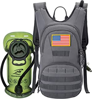 SHARKMOUTH Hydration Pack, Tactical Molle Hydration Pack Backpack 900D with 2L BPA Free Hydration Water Bladder, Military ...