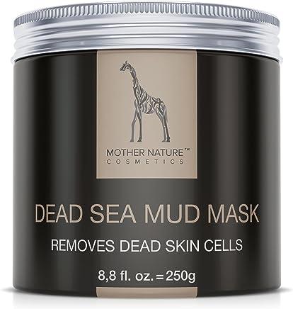 Mother Nature – Maschera Viso al Fango del Mar Morto | Cura per la pelle secca e impura | Pulizia di brufoli - punti neri - acne | maschera Anti-Aging | 250 g
