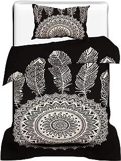 Funda Nórdica Mandala Blanco y Negro, Ropa de Cama Mandala, Edredón Mandala, Decoración de Dormitorio Mandala, Funda de edredón, Funda de edredón Doble Tamaño 53X82