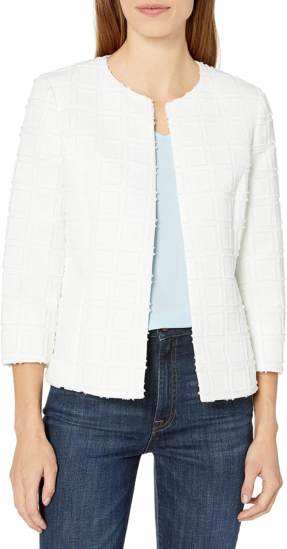 Kasper free shipping Women's Textured Novelty Jacket Max 44% OFF Flyaway