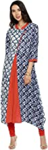Aaboli Women's Long Kurta for Women Multicoloured Printed Dress Casual Tunic Women Kurti