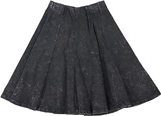 KIKI RIKI Girls Stonewash Panel Skater Skirt - 41458