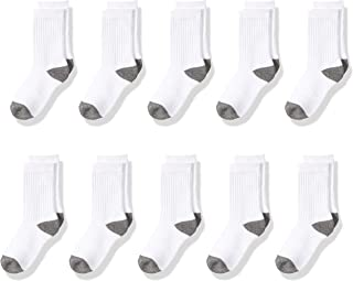 Amazon Essentials Kids' 10-Pack Cotton Crew Sock
