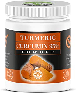 Curcumin 95% Extract Powder-100gm (3.53 Oz), 100% Natural with Maximum Strength, Rich in Antioxidants for Joint and Inflam...