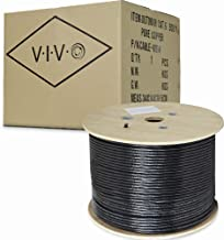 VIVO Black 500ft Bulk Cat6, Full Copper Ethernet Cable, 23 AWG | Cat-6 Wire, Waterproof,..
