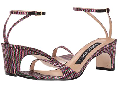 Sergio Rossi A77970-MTE139 (Multicolor Tessuto Rimini) High Heels
