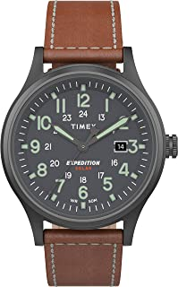 Timex Expedition Scout Solar 40mm Leather Watch For Men