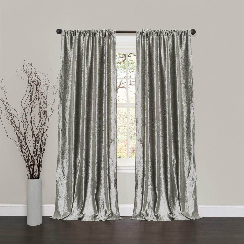 PanelCurtain Velvet Curtains Custom Drapery Soft Velvet Jacquard Hand made Lined