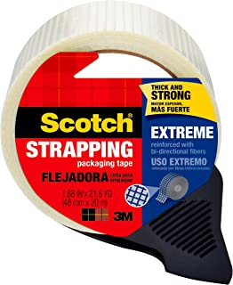 Scotch Extreme Shipping Strapping Tape, Designed for Your Toughest Jobs, 1.9 Inches x 21 Yards (8959-RD)